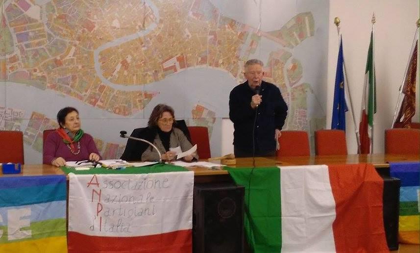 """Il saluto di Mario Bonifacio """"Bill"""" della Sezione ANPI Erminio Ferretto di Mestre"""