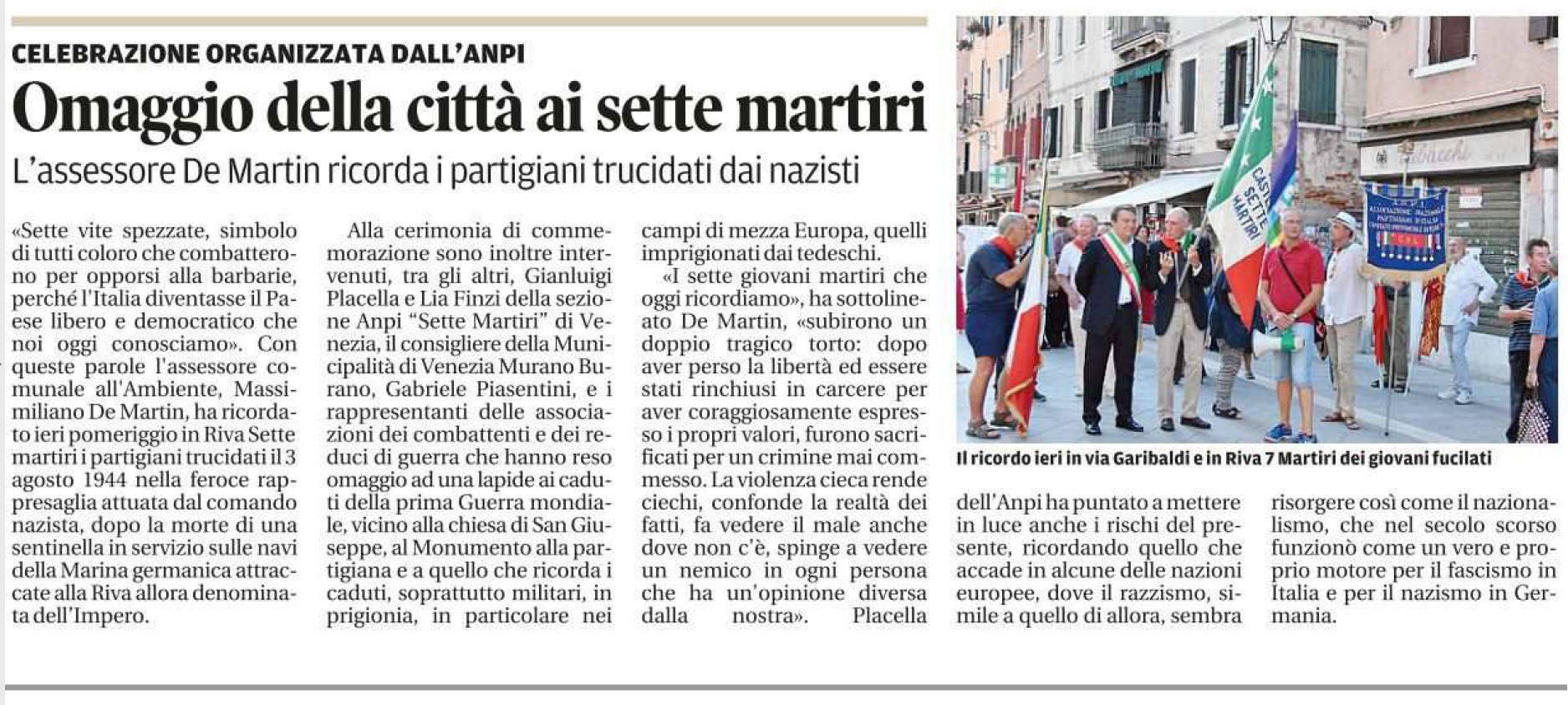 La Nuova Venezia 4 agosto 2016